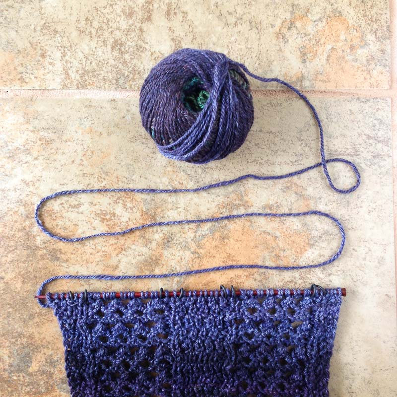 Purple Yarn. Photo by Kate Larson
