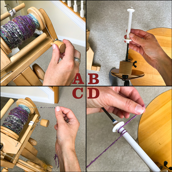 How to wind plastic weaving bobbins with a bobbin winder