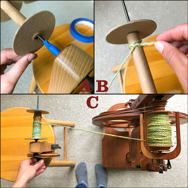How to wind cardboard bobbins, which are often used for sectional warping