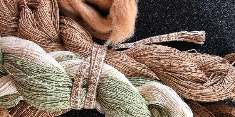 Roving Reporter: Handspun Ribbons on a Backstrap Loom