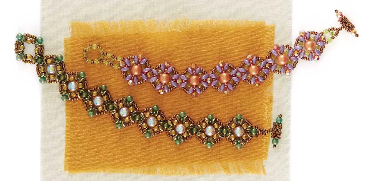 Peach Fizz Bracelet by Melissa Grakowsky Shippee