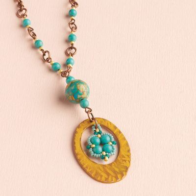 Moroccan Charm Necklace by Marcie Abney