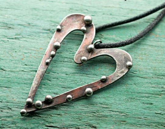 Soft soldering make decorative solder pendants and easy bezels with laura beth loves soft solder and wire heart pendant aloadofball Images