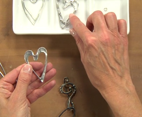 Soft soldering make decorative solder pendants and easy bezels with creating a soft solder heart pendant with laura beth love aloadofball Images