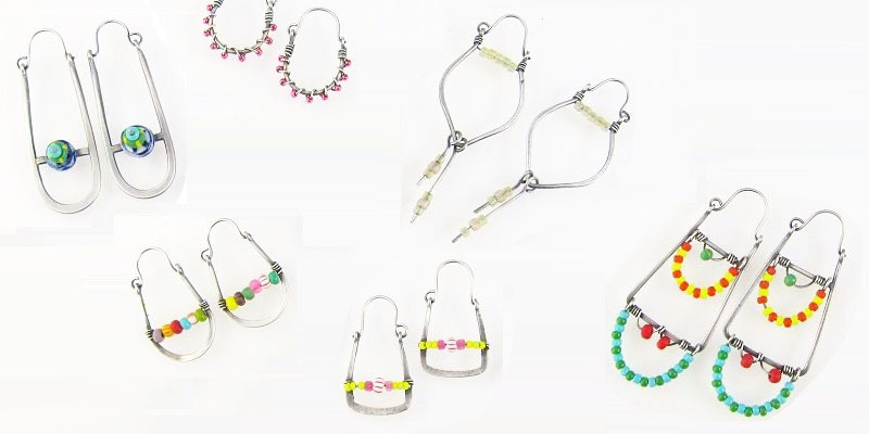 Free Metal Hoop Earring Tutorial: Make Trapeze Earrings Embellished With Colorful Beads