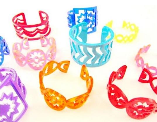 LaurelNathanson-plexiglas-cuff-bracelets
