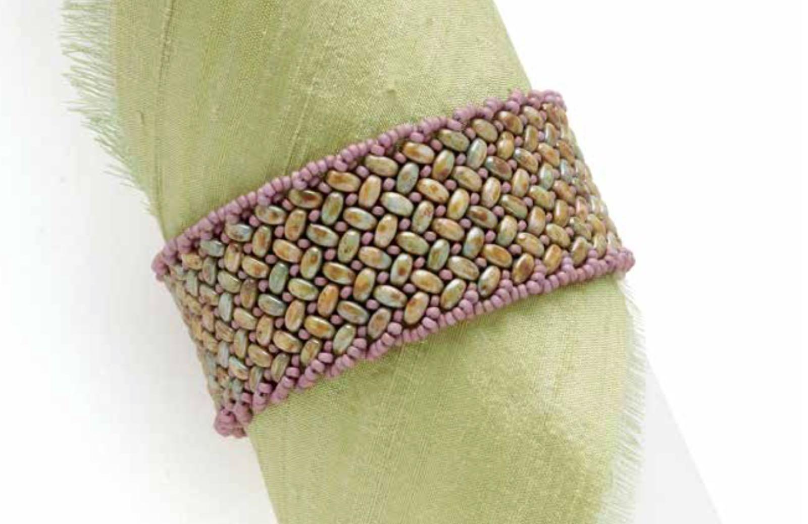 Lavender Weave bracelet, by Shae Wilhite