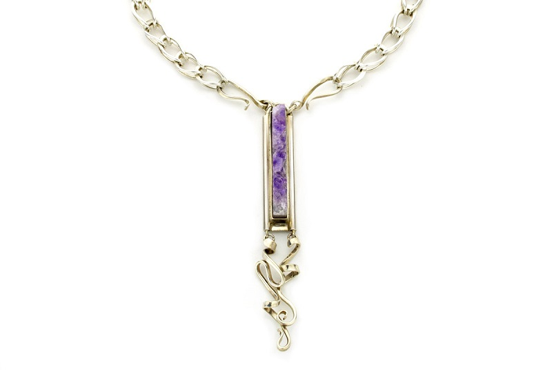 gemstone jewelry amethyst crystal Layne Designs