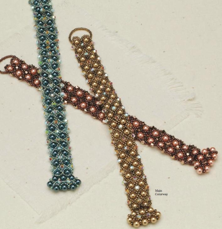 Formal Affair Bracelet, Leslee Frumin, Beadwork, Apr/May 2014