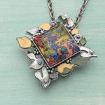 Romantic Metalsmithing: Guinevere's Lament Flower Pendant