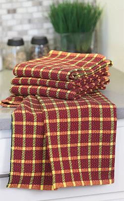Folk Art Towels woven by Suzie Liles