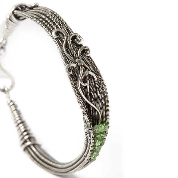wire jewelry: Lilium Bracelet from Woven in Wire by Sarah Thompson