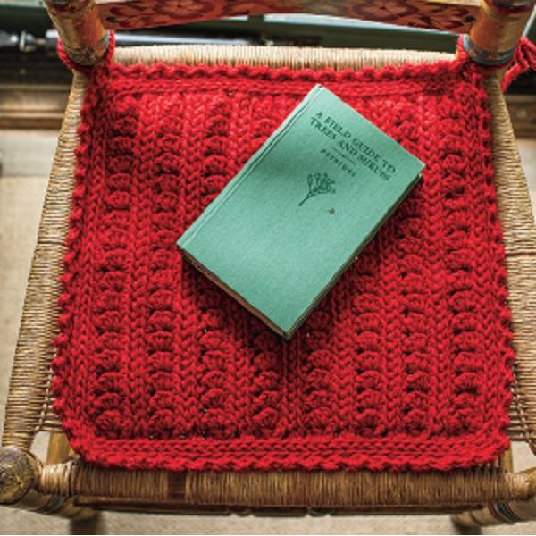crochet chair pad