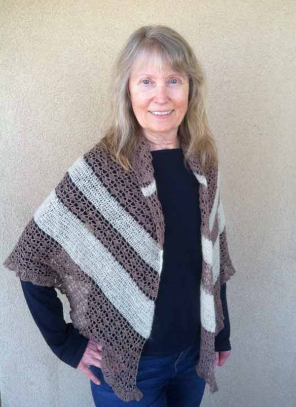 Lindsay Jarvis' crocheted shawl for her beautiful mom