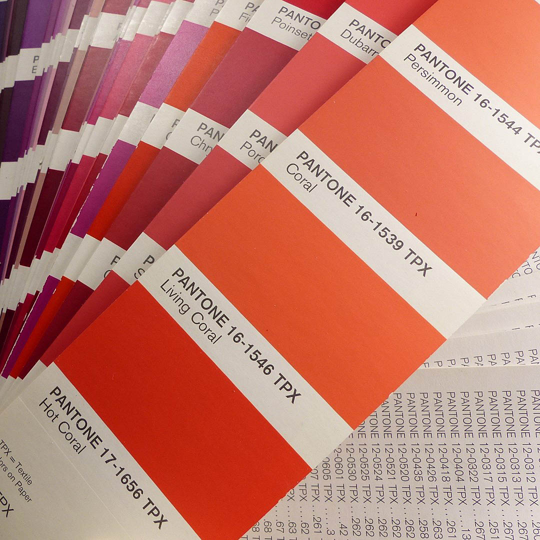 a 15-year-old Pantone fan deck yields 2019 Color of the Year Living Coral.