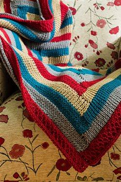Log Canbin Tunisian crocheted afghan pattern