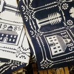 Handwoven coverlet corners