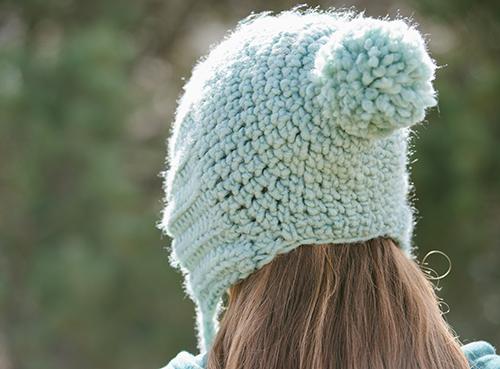 Back of Long Division Crochet Hat
