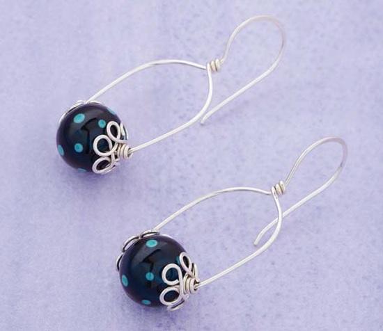 Loophole-bead-cap-earrings-KerryBogert