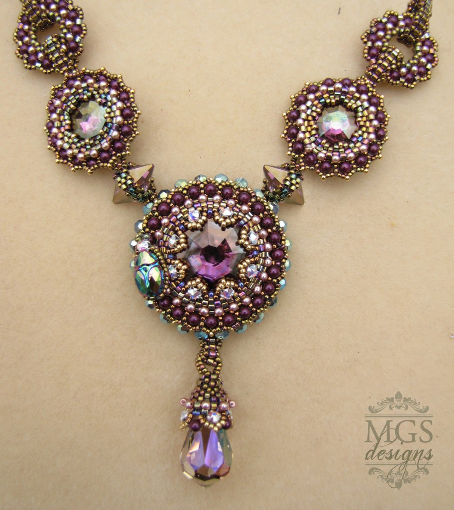 Beaded necklace by Melissa Grakowsky Shippee