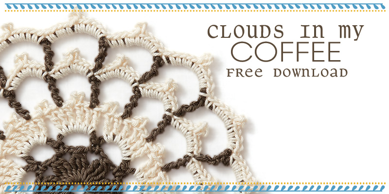 Free Mandala Pattern: Clouds in My Coffee