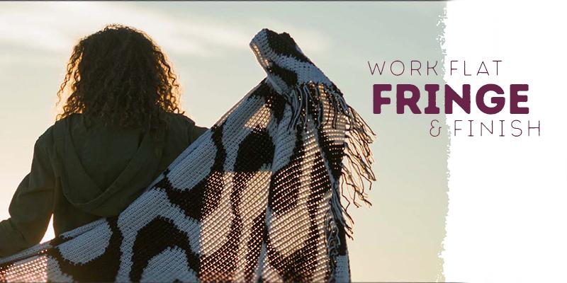 Modern Tapestry Crochet: Work Flat, Fringe & Finish