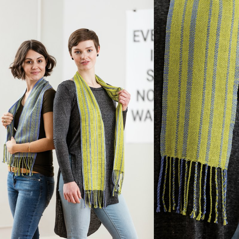 Margaret MacMorris' Fibonacci Sequence Scarves from the Summer 2017 issue of Easy Weaving with Little Looms.