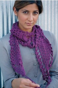 The Madeline Stole is a fun crochet pattern that is full of pineapple motifs.