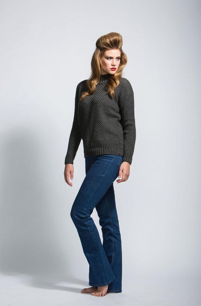 Maduri Sweater knitting pattern in Knitscene magazine's Fall 2015 issue.