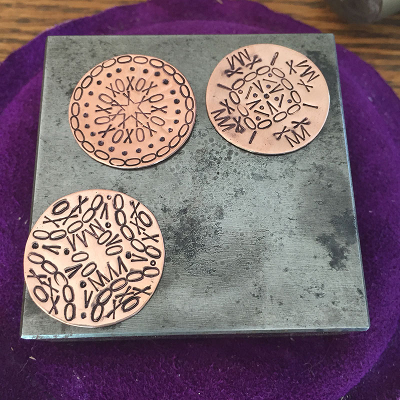 Metal Stamping: Creative Mandalas Made with Alphabet Stamps