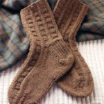 Manx Loaghtan Boot Socks by Ann Budd, featured in Piecework November/December 2011