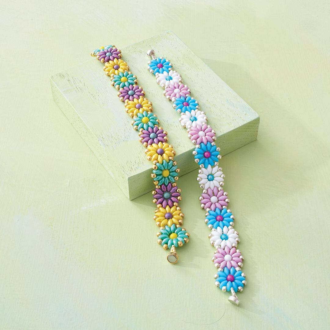 Daisy Duos Bracelet by Laurie Long Marcum