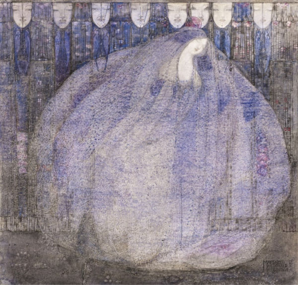 Margaret Macdonald Mackintosh, <em>The Mysterious Garden,</em> 1911. Purchased with help from The Art Fund, 2011. | Photo by National Galleries of Scotland/Getty Images