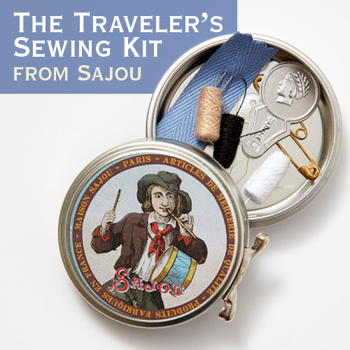 The Traveler's Sewing Kit from Sajou