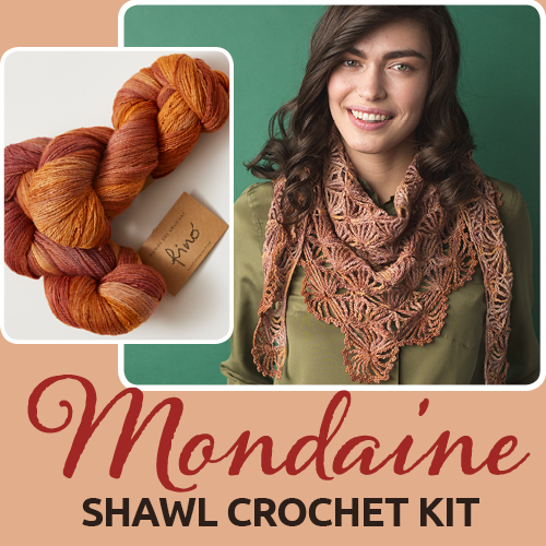 Mondaine Shawl Crochet Kit