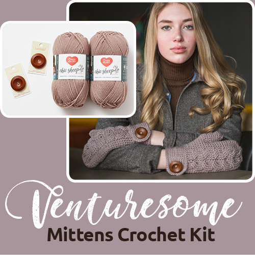 Venturesome Mittens Crochet Kit