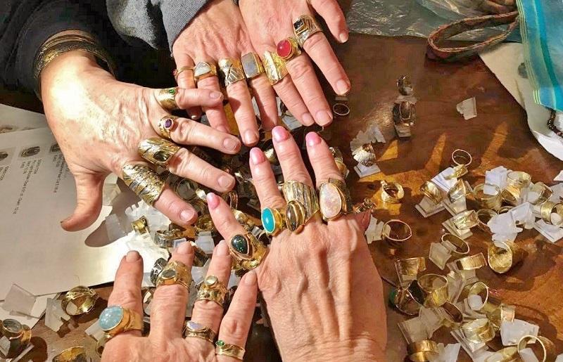 Marne Ryan metalsmithing rings