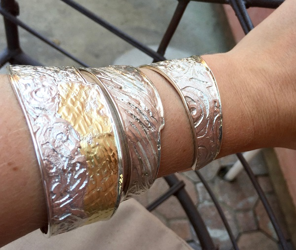 Marne Ryan's textured metal cufs