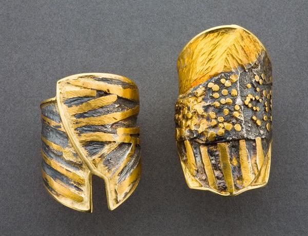 Marne Ryan's textured metal rings