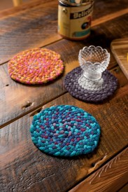 Martha Lazar Sock Yarn Braided Trivets 1