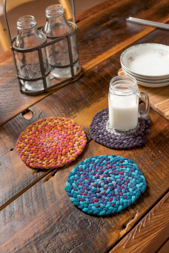 Martha Lazar Sock Yarn Braided Trivets 2
