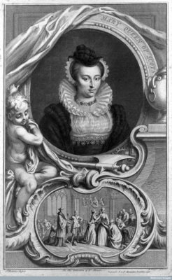 Portrait of Mary, Queen of Scots, including scene from her execution in 1587 by T. Oliver, after T. Houbraken (L0010597). Image courtesy of Wellcome Library, London.