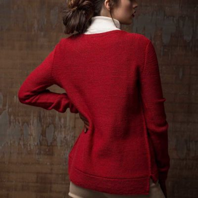 knitted cables are featured in the Massachusets Pullover