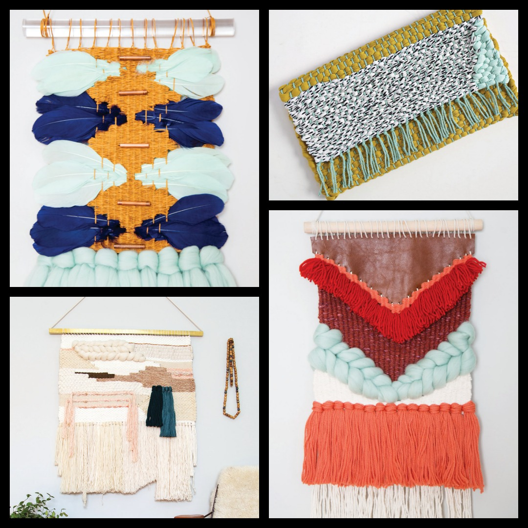 Unconventional materials for DIY wall hangings.