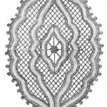 This is the completed medallion in point lace begun in the illustration above.