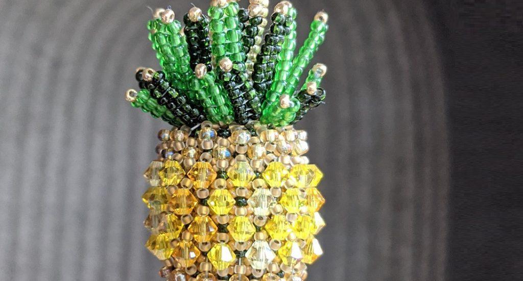 beaded gifts Edgar Lopez beaded pineapple design