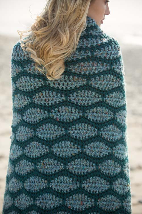 Mermaid Beach Crochet Blanket Scales