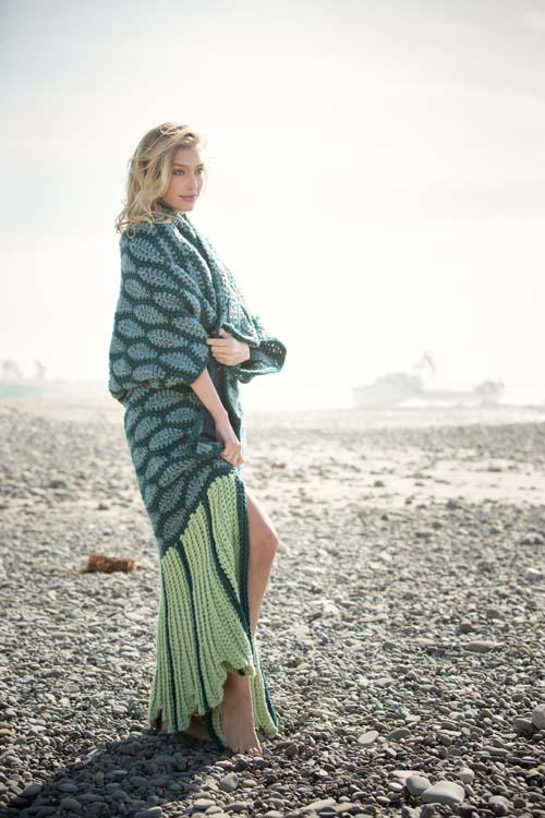 Mermaid Beach Blanket Wrapped