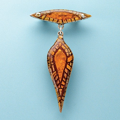 jewelry-making projects: Metal Clay Micromosaic and Resin Pin/Brooch by Patrik Kusek