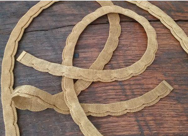 vintage brass mesh chain